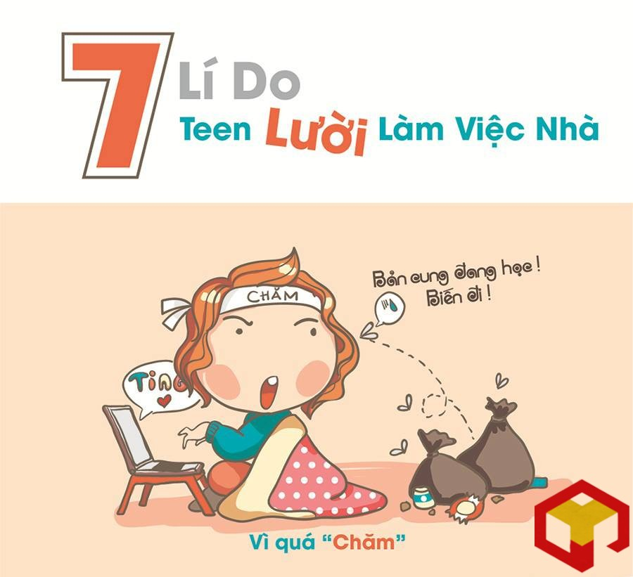 7 ly do teen luoi viec nha